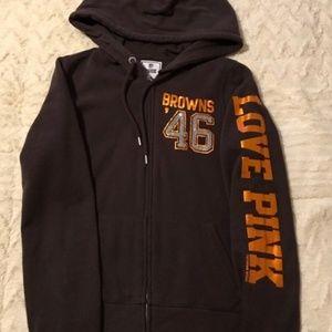VS Pink Cleveland Browns Zip Up Sweatshirt